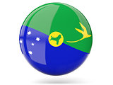 Round icon with flag of christmas island