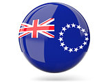 Round icon with flag of cook islands