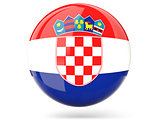 Round icon with flag of croatia