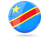 Round icon with flag of democratic republic of the congo