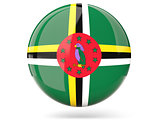 Round icon with flag of dominica
