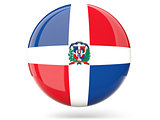Round icon with flag of dominican republic