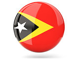 Round icon with flag of east timor
