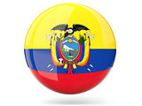 Round icon with flag of ecuador