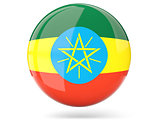 Round icon with flag of ethiopia