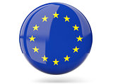 Round icon with flag of european union