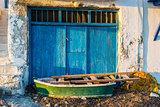 Old Boat at the picturesque fishing village of Klima on the island of Milos, Greece