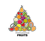 Fruits compostiton. Logo, card or banner