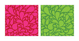 Seamless patterns set with funny drops. pink and green.