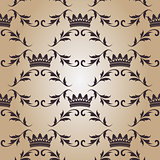 Seamless pattern with crowns.