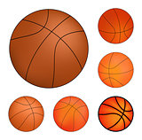 Vector Basketball set isolated on a white background