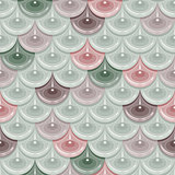 Seamless pastel river fish scales
