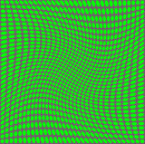 Optical illusion  green on a gray background