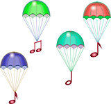 Parachutes with notes