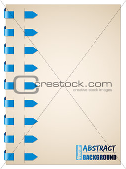 Blue arrow brochure design