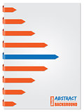 Blue & orange arrow brochure design