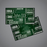 Designer business card with design synonym words