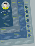 Modern cv resume template with steps design