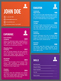 Metro design cv resume template