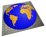 Global strategy jigsaw puzzle