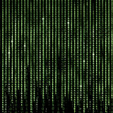 Green Matrix Abstract background, program binary code