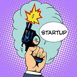 business concept startup starting pistol
