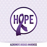 Alzheimer's Disease Awareness Badges and Ribbon