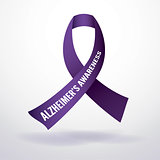 Alzheimer's Disease Awareness Ribbon Illustration