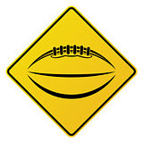 Yellow American Football Road Sign Illustration
