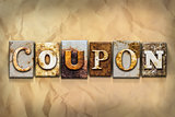 Coupon Concept Rusted Metal Type
