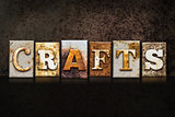 Crafts Letterpress Concept on Dark Background