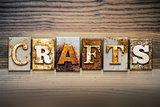Crafts Concept Letterpress Theme