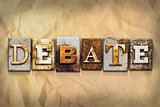 Debate Concept Rusted Metal Type