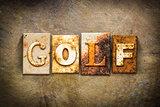 Golf Concept Letterpress Leather Theme