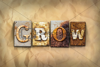 Grow Concept Rusted Metal Type