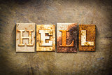 Hell Concept Letterpress Leather Theme