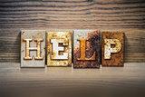 Help Concept Letterpress Theme