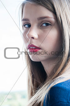 Portrait of beautiful teenage girl