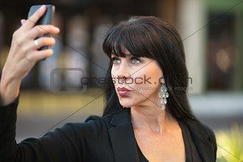Attractive Woman Taking Selfie