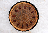 Pecan pie fresh from the oven