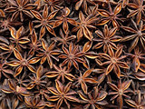 Star anise as an abstract background texture