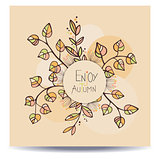 Enjoy autumn card.
