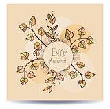Enjoy autumn card.