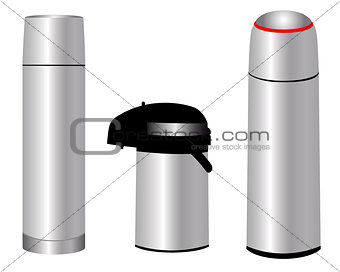 three thermos