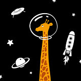 Giraffe In Space