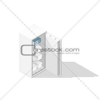 Office safe isometric icon