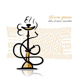 Hookah sketch for your design