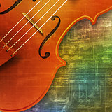 abstract grunge background with violin