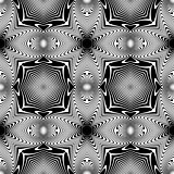 Design seamless monochrome geometric pattern