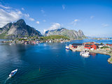 Reine fishing harbor